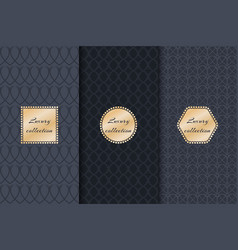 Collection of backgrounds luxury product vector