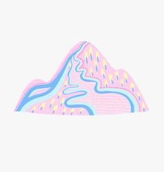 color decorative mountain vector image