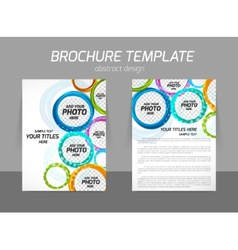 Colorful circles brochure vector image