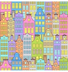 colorful sity vector image
