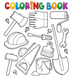 Coloring book tools theme 1 vector