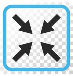 Compress Arrows Icon In a Frame vector image