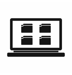 Desktop icon simple style vector image