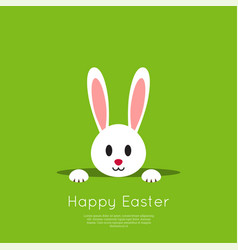 Easter bunny in hole vector