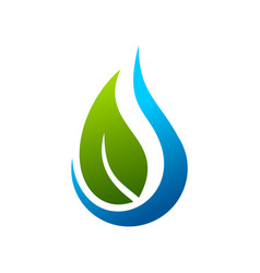 eco water drop symbol logo design template vector image