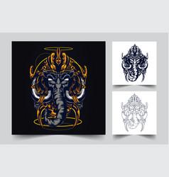 elephant religion buddha culture artwork vector image