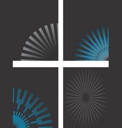 flared black backgrounds vector image