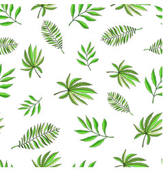 floral paradise hand drawn tropic seamless pattern vector image