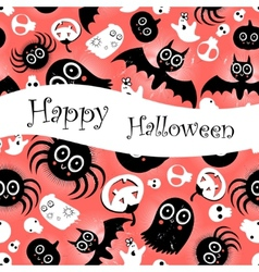 Funny halloween background Monsters vector