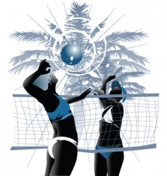 girl volleyball vector image