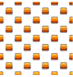 Gold square button pattern vector
