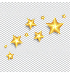 Gold stars on transparent background vector