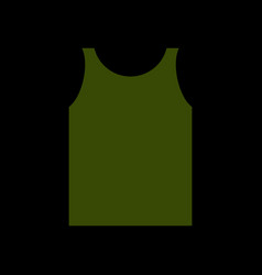 Green shirt soldier army clothes isolated vector