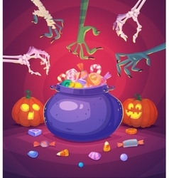 Halloween poster background card vector