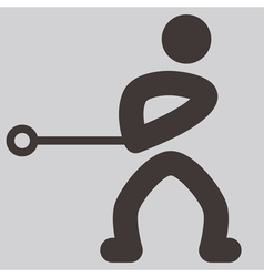 Hammer throw icon vector