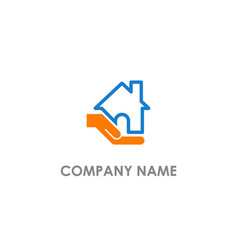 home care hand business logo vector image