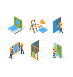 home repair wall installation equipment paint vector image