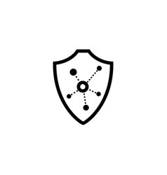 icon in the lines of protection and vector image
