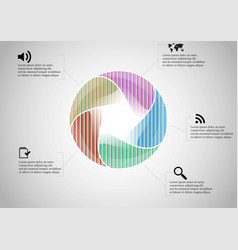 infographic template with vector image