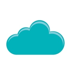 Isolated cloud shape design vector image