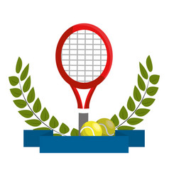isolated tennis racket design vector image