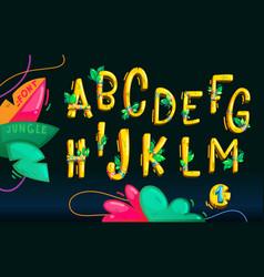 jungle wood font vector image