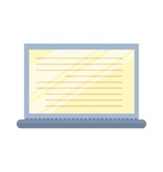 Laptop in Flat Design vector