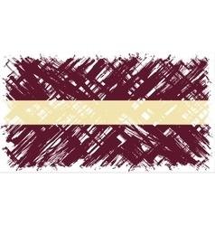 Latvian grunge flag vector