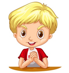 Little boy with blond hair vector image