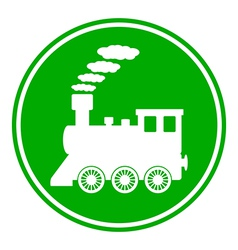Locomotive button vector image