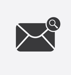 Mail icon with research sign vector