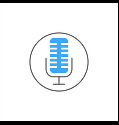 microphone solid icon mobile sign and sound vector image