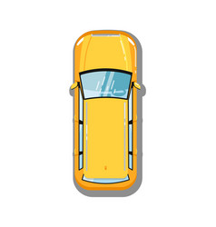 Modern universal car top view icon vector