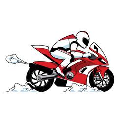 motorcycle racer mascot vector image