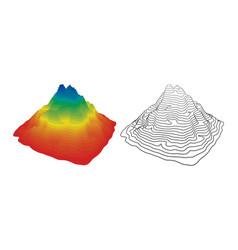 Mountain topography vector