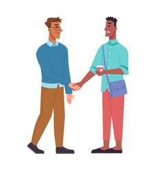 multinational people shaking hands business men vector image