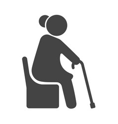 old woman icon senior people and retirement vector image