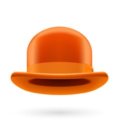 Orange bowler hat vector image