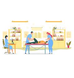 orthopedics and traumatology injured patient vector image