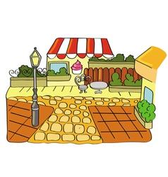 parisian street scene vector image