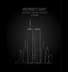 Patriot day drawing vector