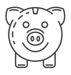 piggy bank save energy icon outline style vector image