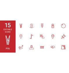 pin icons vector image