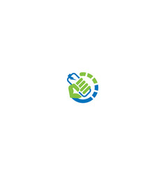 power battery logo icon vector image