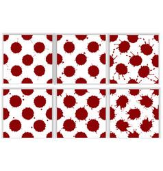 realistic blood splatters pattern set vector image