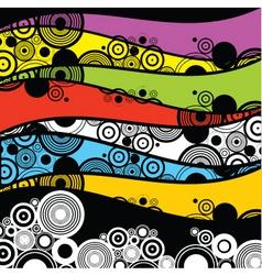 retro circles vector image