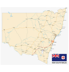 road map australian state new south wales vector image