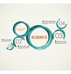 Science infographic with circles vector image