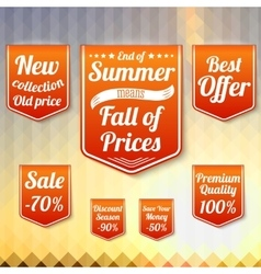 Set of sale business banners for the late summer vector