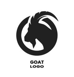Silhouette of the goat monochrome logo vector image